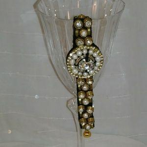 Ranjana Khan Pearl and Crystal Bracelet